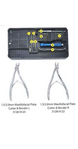 1,5 - 2,0 MM MAXILLOFACIAL PLATE SURGERY INSTRUMENT SET ORTIMPLANT