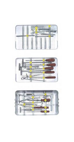 ANTERIOR THORACIC & LUMBAR PLATE SYSTEM SURGERY INSTRUMENT SET ORTIMPLANT