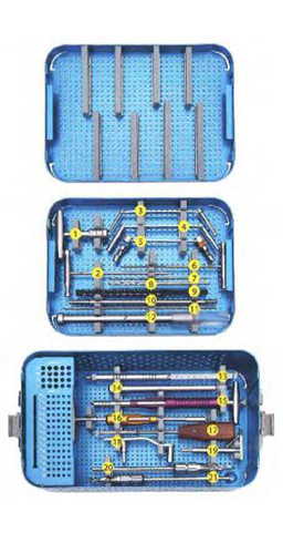 DHS & DCS PLATE SURGERY INSTRUMENT SET ORTIMPLANT