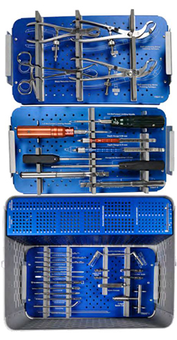 LARGE FRAGMENT LOCKING NON-LOCKING PLATE SURGERY INSTRUMENT SET ORTIMPLANT