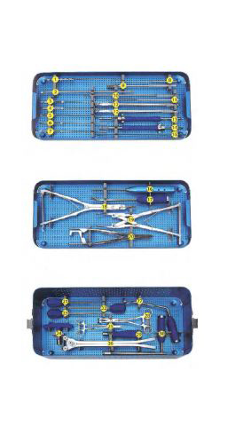 SPINAL PEDICLE SCREW SYSTEM SURGERY INSTRUMENT SET ORTIMPLANT